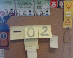 My corkboard in the office